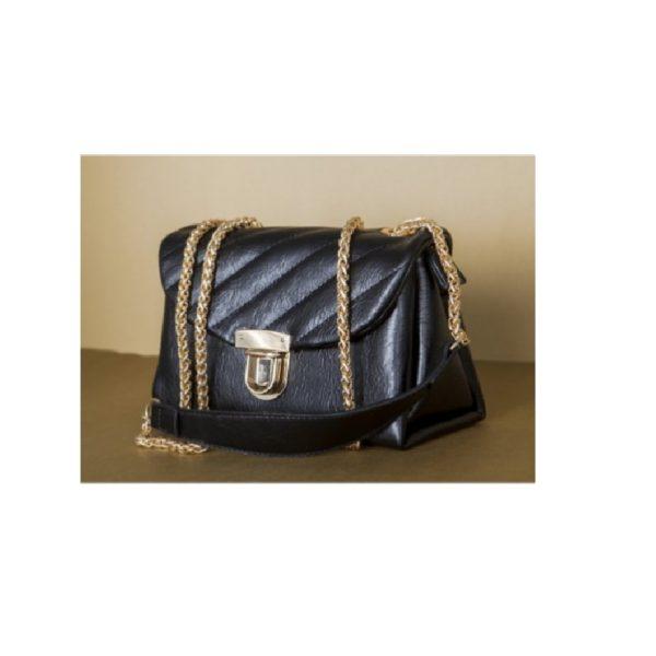 Black-Colour-Man-Made-Leather-Ladies-Bag (1)