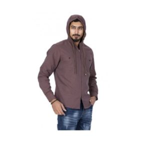 Brown-Colour-Smart-Casual-Hoodies-Shirt (1)