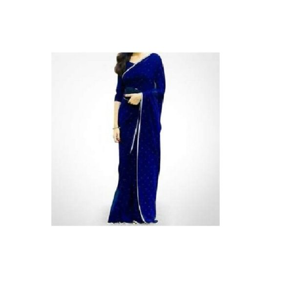 Unstitched-Blue-Georgette-Saree-For-Women