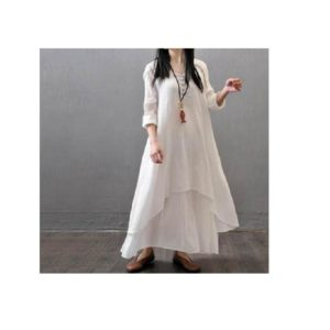 Casual-Loose-Long-Sleeve-Cotton-Linen-Boho-Long-Dress Party-Maxi-Dress (1)